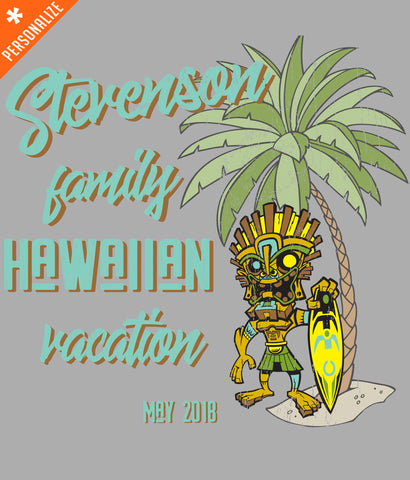 PERSONALIZED VACATION T-SHIRT DESIGN CLOSEUP