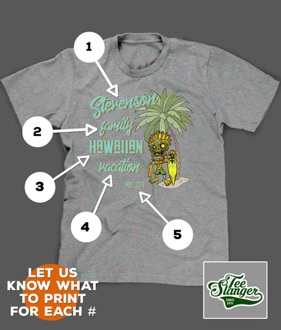 PERSONALIZED VACATION T-SHIRT PRINTING OPTIONS
