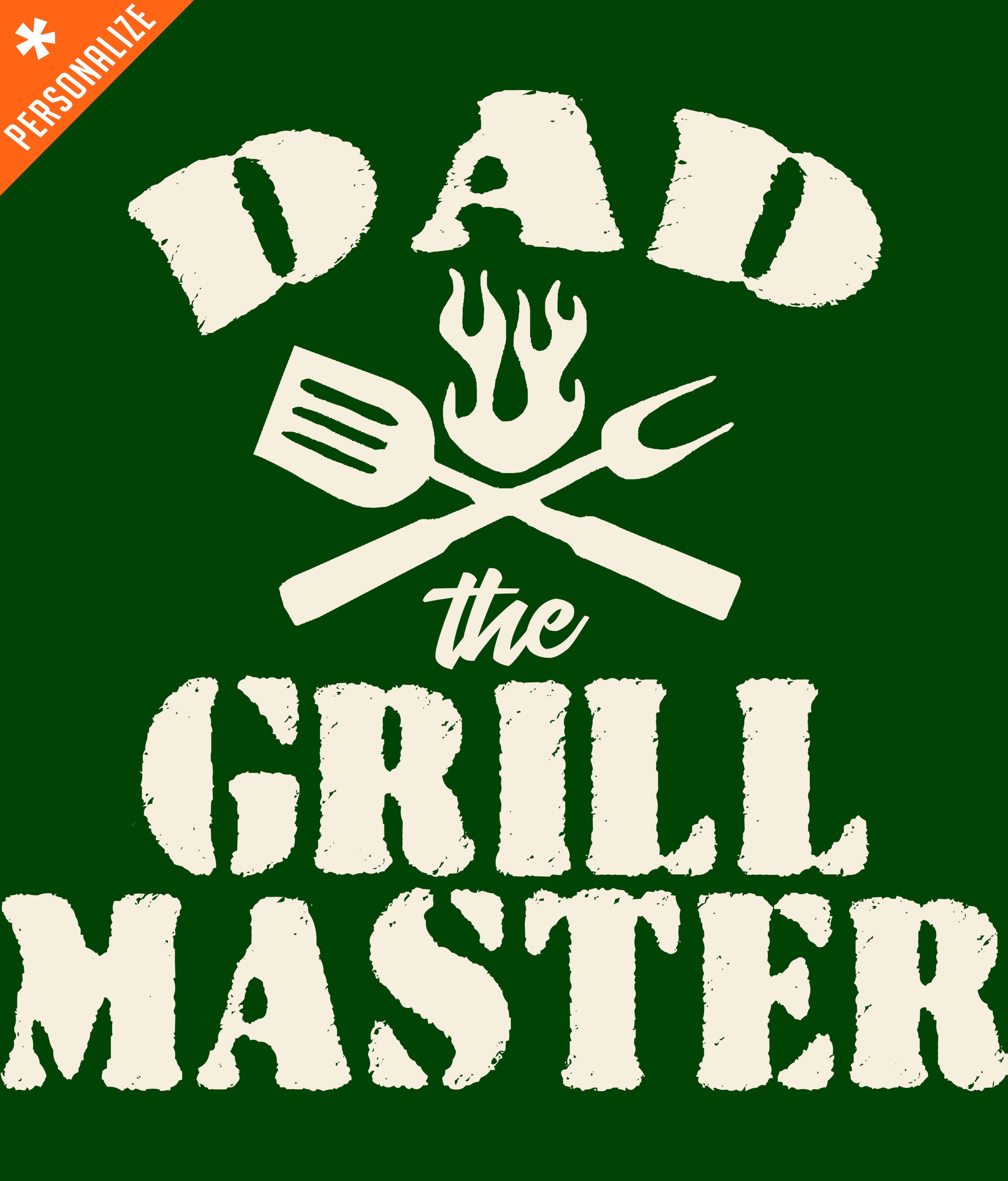 PERSONALIZED GRILLMASTER T-SHIRT DESIGN CLOSEUP