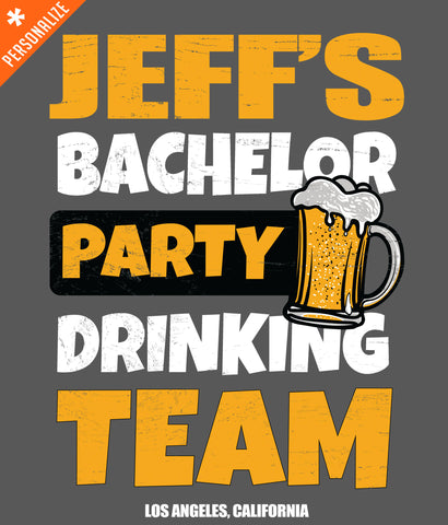 PERSONALIZED BACHELOR PARTY T-SHIRT DESIGN CLOSEUP