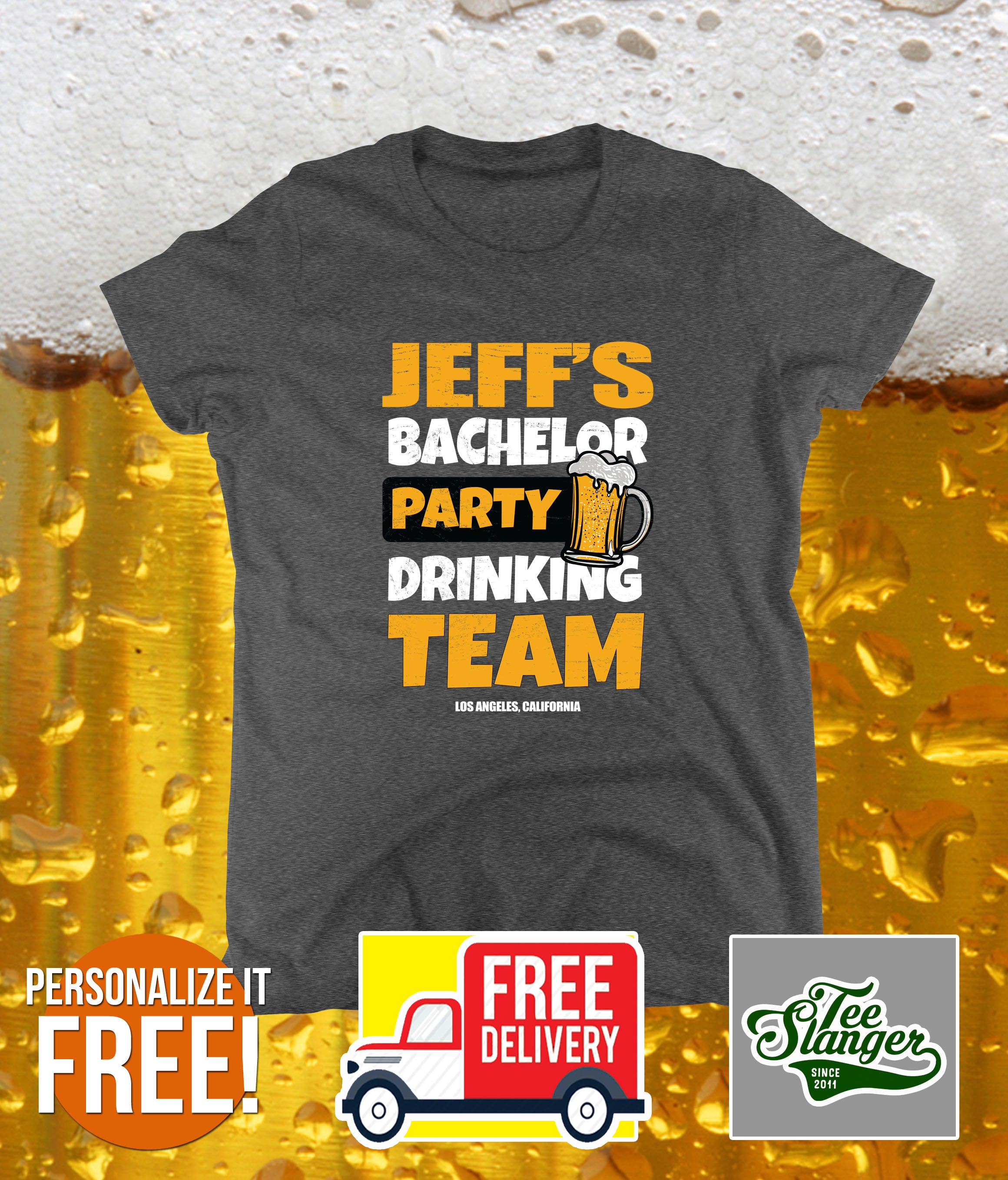 PERSONALIZED BACHELOR PARTY LADIES T-SHIRT