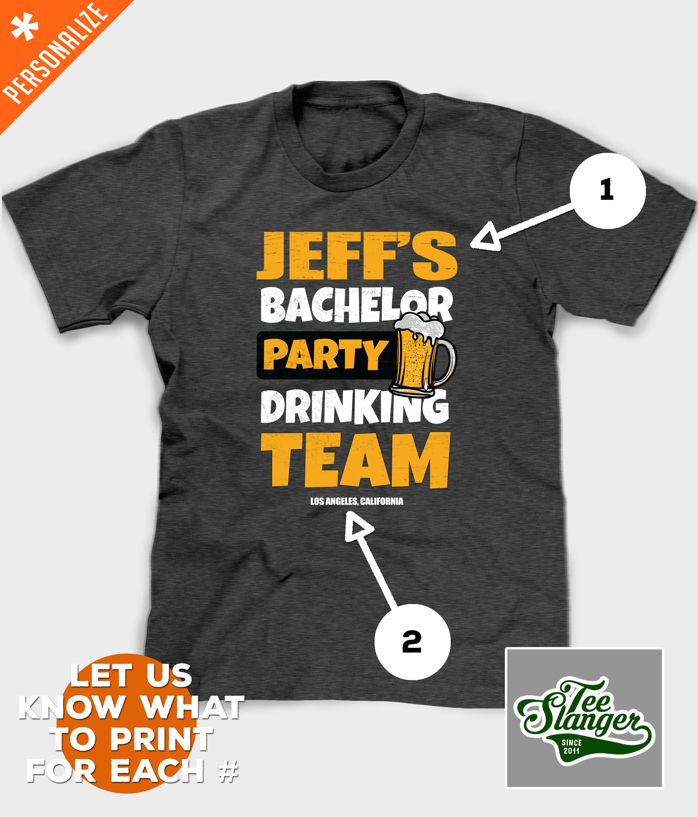 PERSONALIZED BACHELOR PARTY CUSTOMIZATION OPTIONS