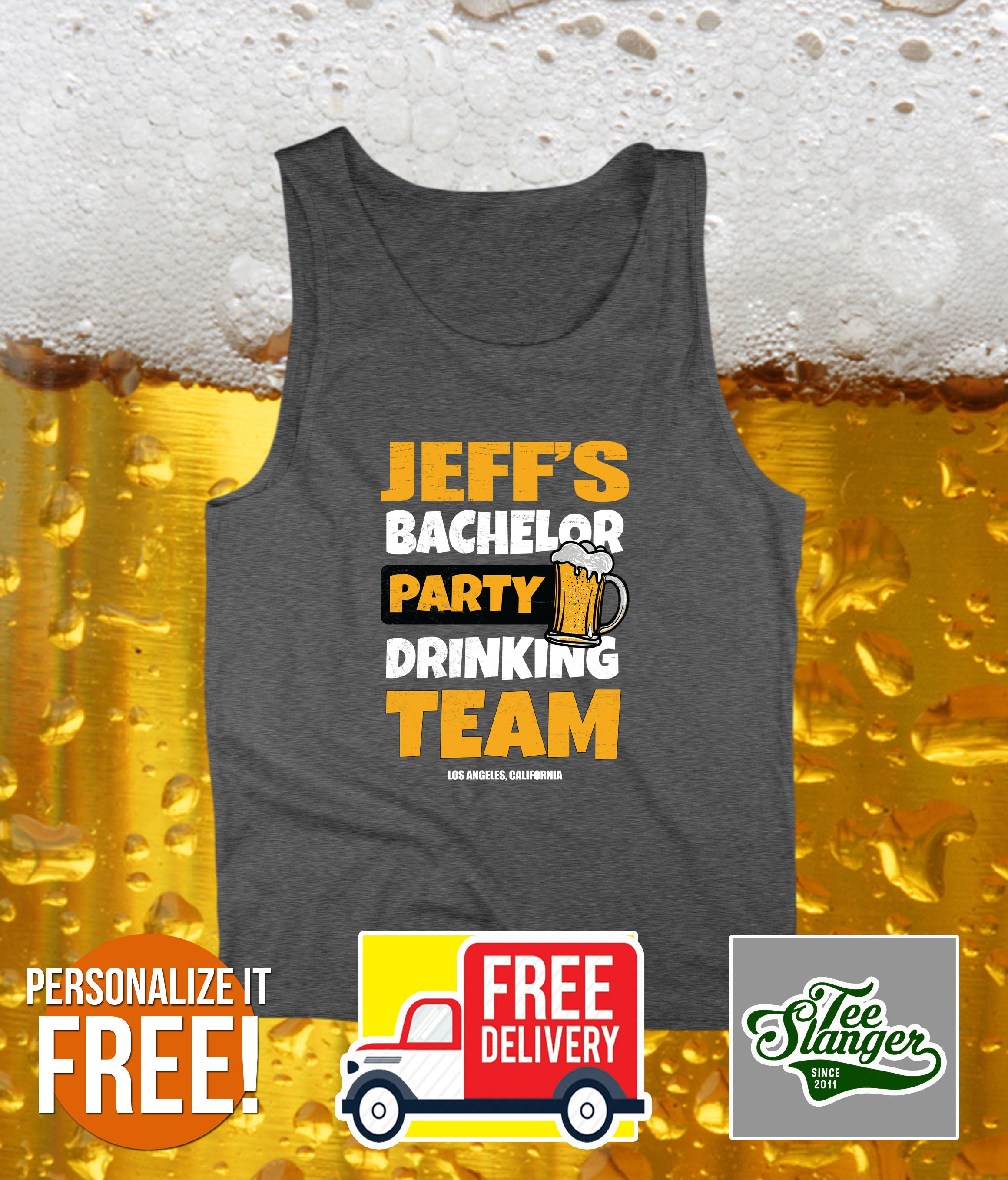 PERSONALIZED BACHELOR PARTY TANK TOP