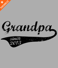 PERSONALIZED GRANDPA SINCE T-SHIRT DESIGN CLOSEUP