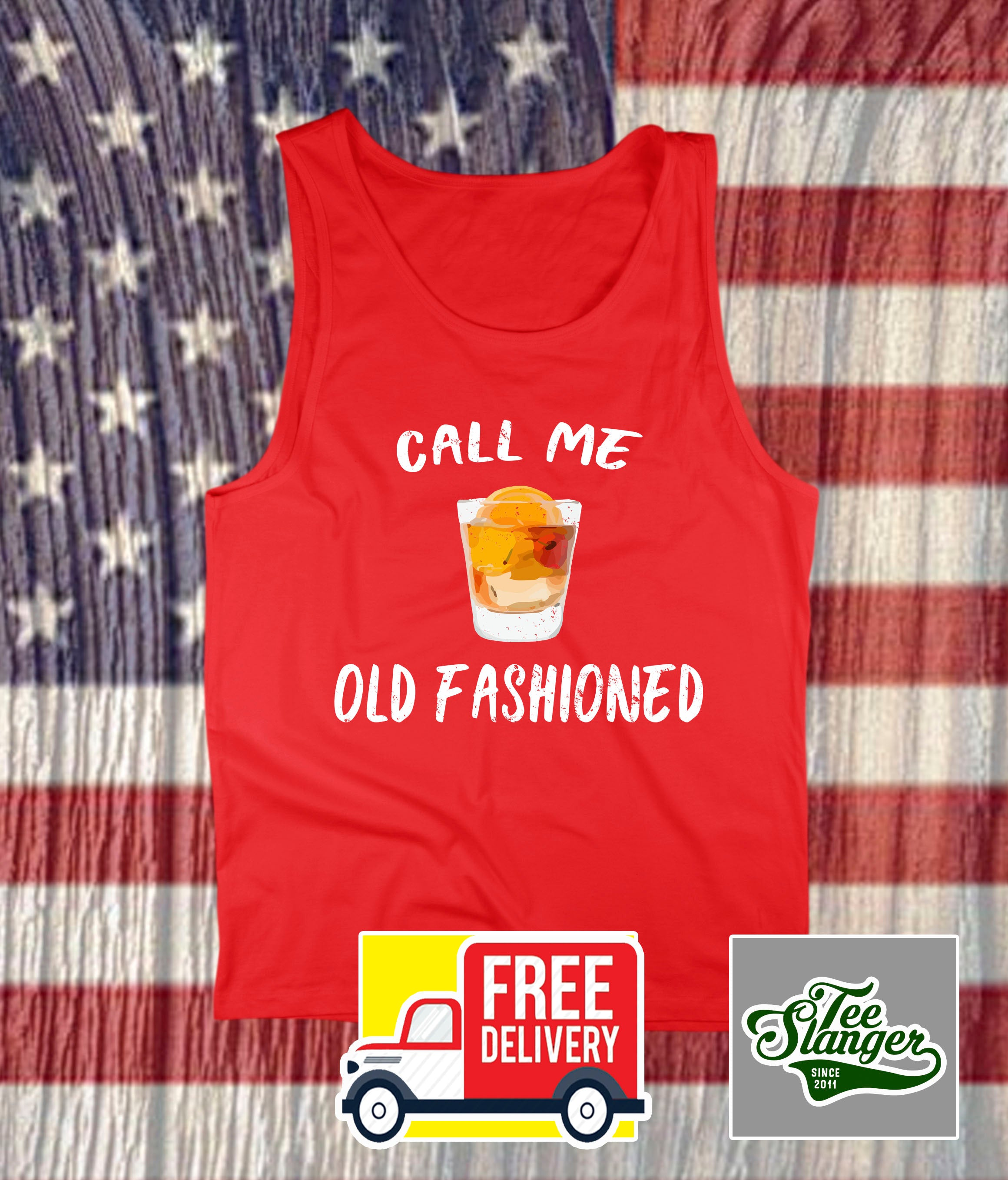 CALL ME OLD FASHIONED TANK TOP DRINKING TEE