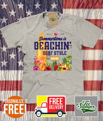 Summertime is Beachin' Personalized T-shirt