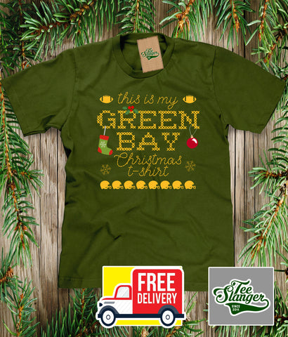 Green Bay Packers Christmas T-shirt