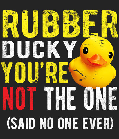 Funny Rubber Ducky T-shirt design closeup