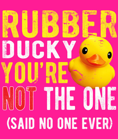Funny Rubber Ducky Toddler T-shirt design closeup