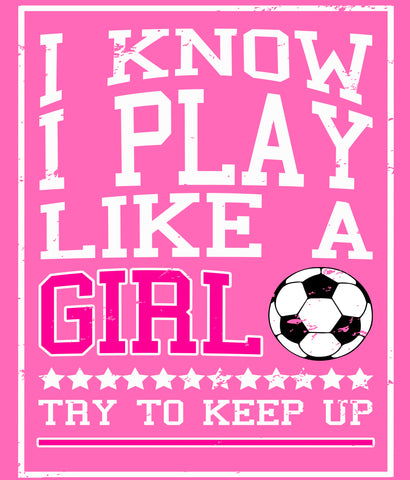 Play Like a Girl Soccer T-shirt design closeup