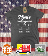 Mom's Cooking Buddies Personalized T-shirt in women's fit