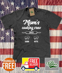 Mom's Cooking Buddies Personalized unisex T-shirt