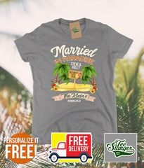 Custom Hawaii Wedding T-shirt in women's cut