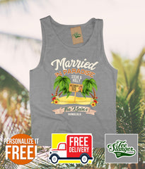 Hawaii Wedding Tank Top Personalized