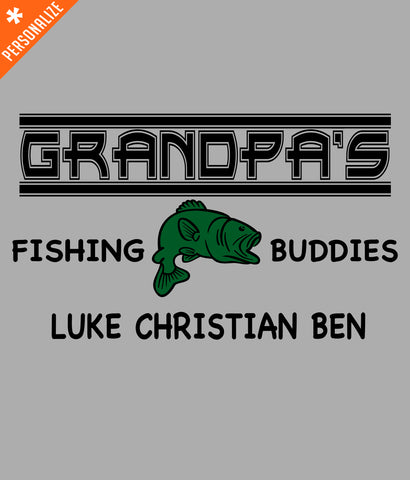 CUSTOM GRANDPA FISHING T-SHIRT DESIGN CLOSEUP