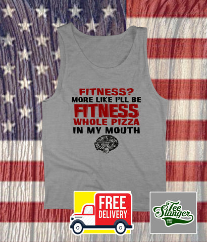 FITNESS WHOLE PIZZA TANK TOP