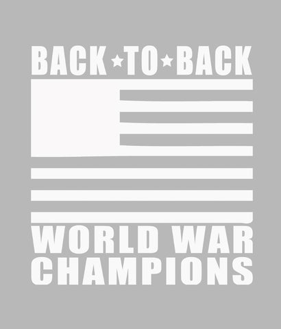 BACK TO BACK WORLD WAR CHAMPIONS DECAL CLOSEUP