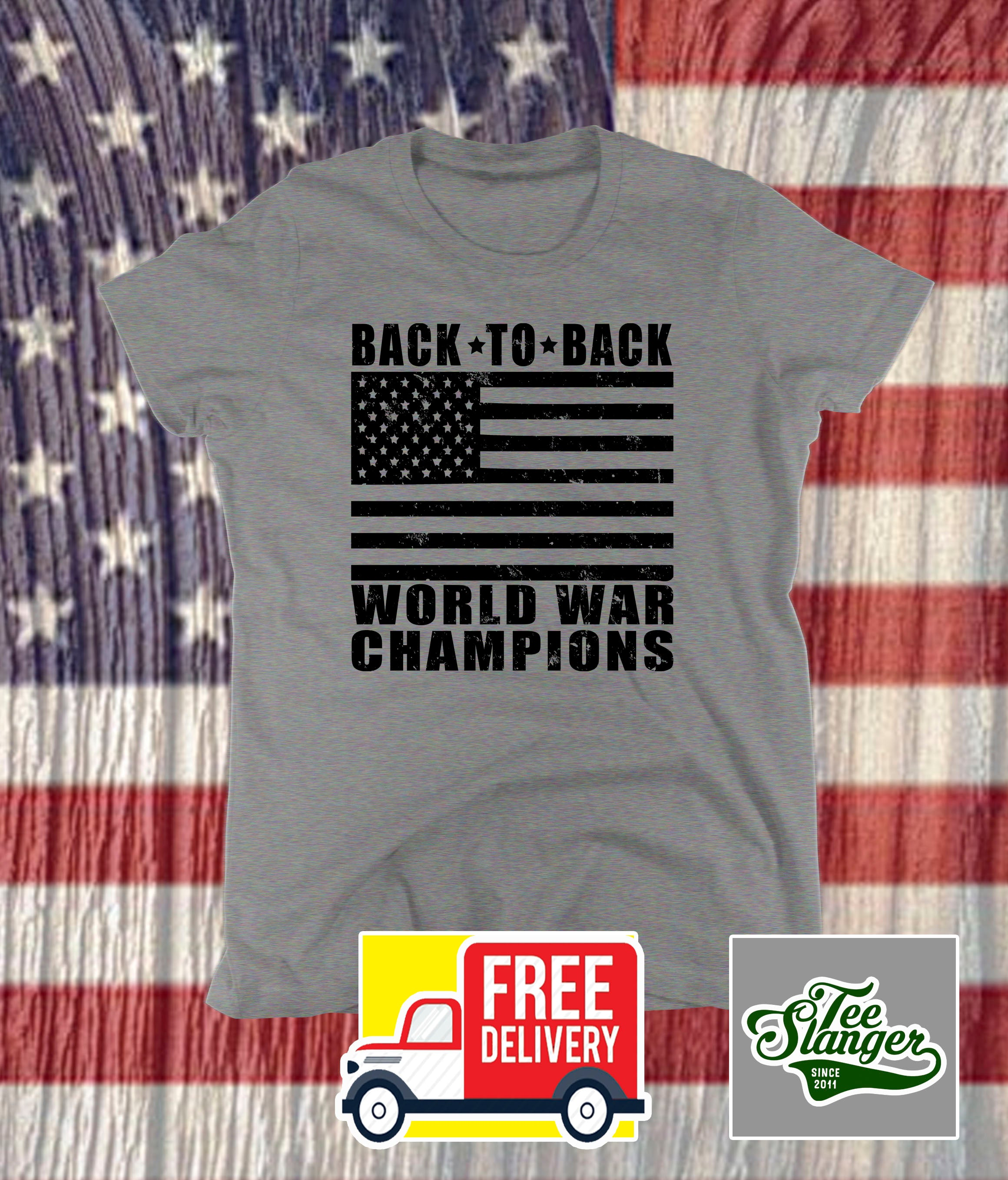 BACK TO BACK WORLD WAR CHAMPIONS LADIES T-SHIRT