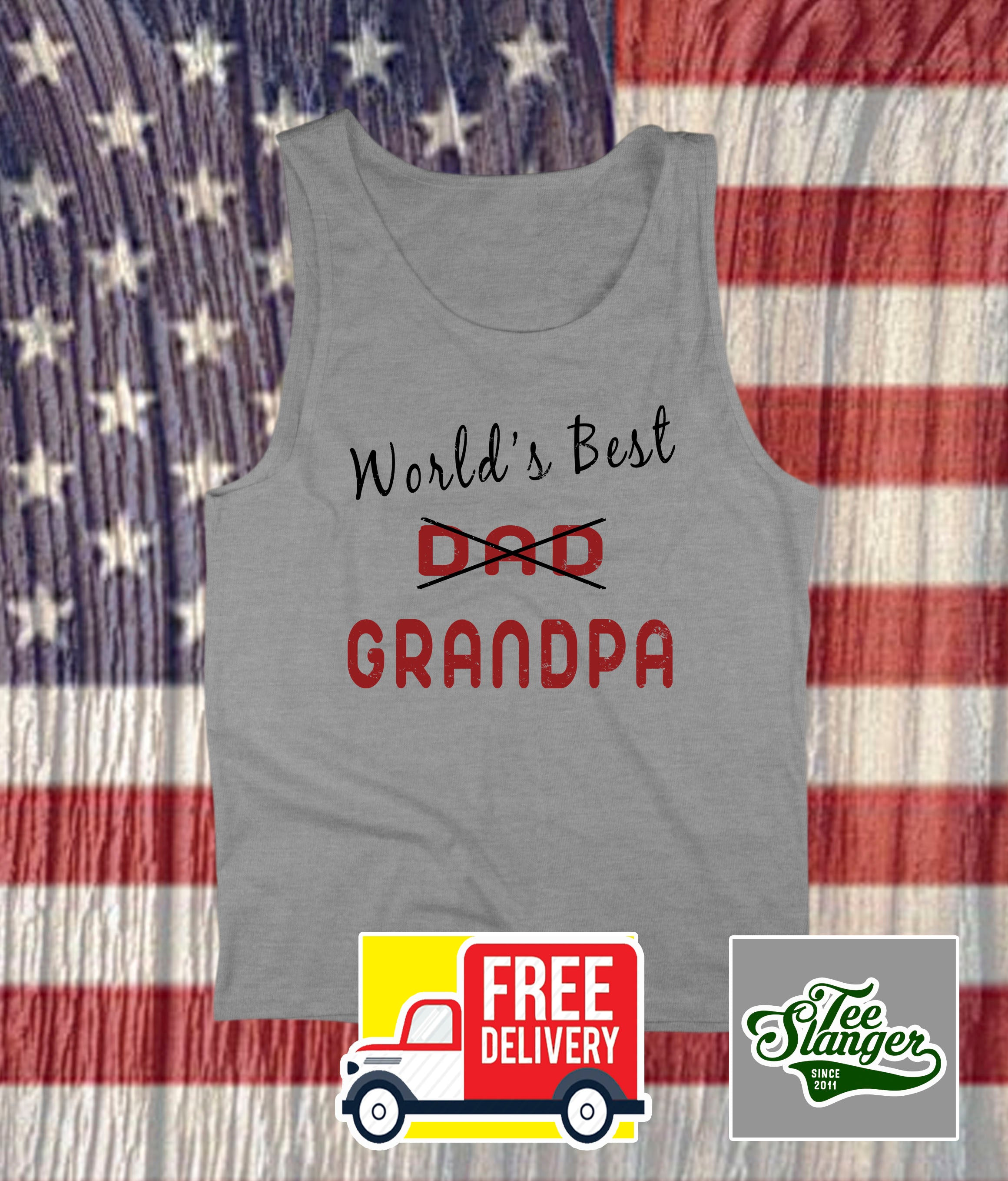 PROMOTED TO GRANDPA TANK TOP