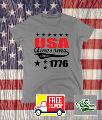 USA AWESOME SINCE 1776 LADIES SHIRT