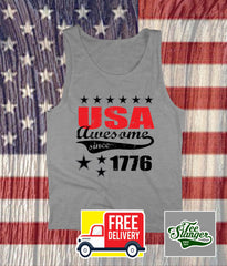 USA AWESOME SINCE 1776 TANK TOP