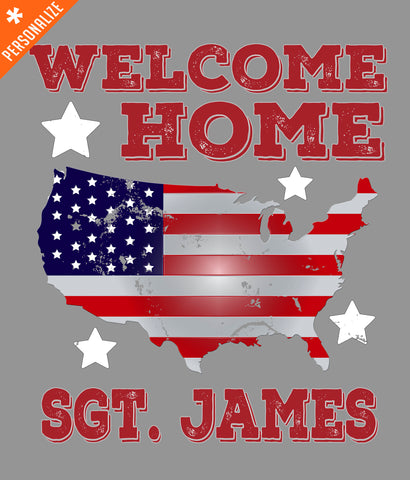 Welcome Home Soldier T-Shirt design closeup