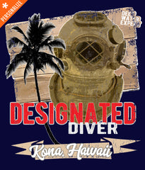 Designated Diver T-shirt Customized design closeup