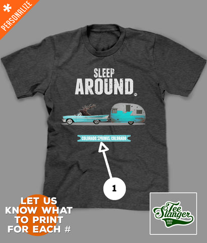 Moose Camping Road Trip T-Shirt personalization options
