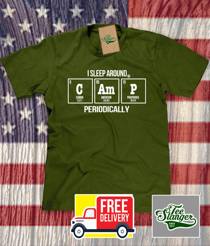 Table of the Elements Camping T-shirt in green