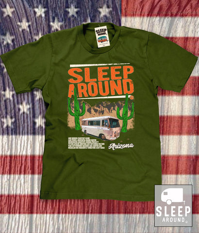Arizona Cities Camping Tee Shirt