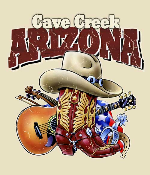 Arizona Cowboy t-shirt closeup
