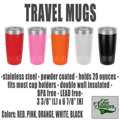 Travel thermos color options