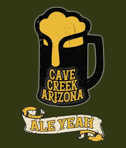 Ale Yeah Arizona beer t-shirt design closeup