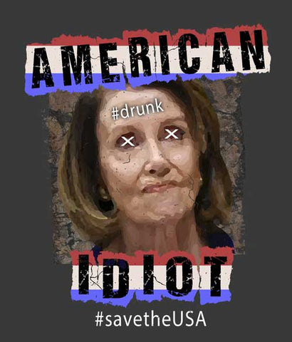 Nancy Pelosi sucks t-shirt design closeup