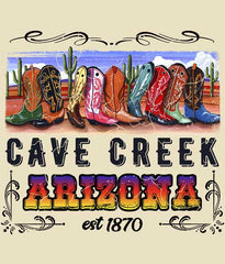 Arizona Cowboy Boot t-shirt design closeup