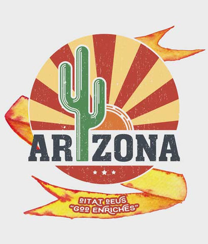 Arizona graphic t-shirt design closeup