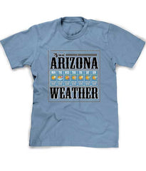 Arizona weather t-shirt in blue