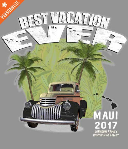 Hawaii family vacation tee shirt design