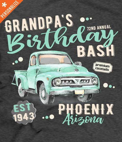 Grandpa Birthday shirt design closeup - personalized