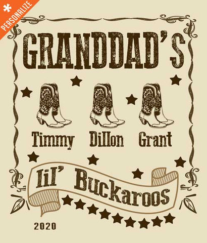 Custom Arizona Granddad t-shirt closeup