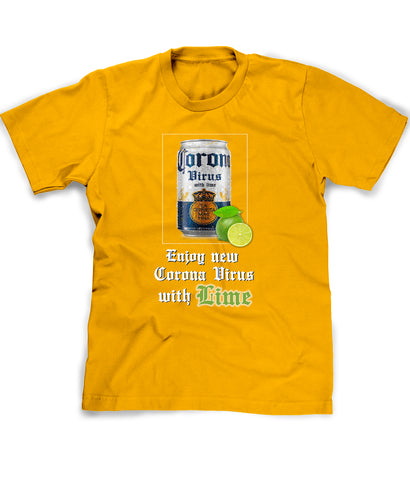 Coronavirus with Lime t-shirt funny