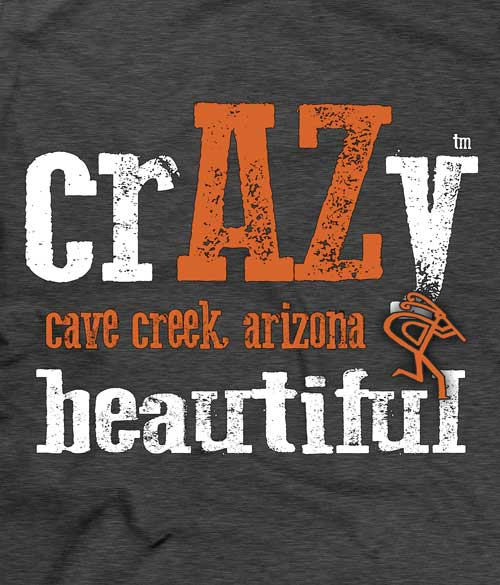 crAZy Beautiful Arizona t-shirt design closeup