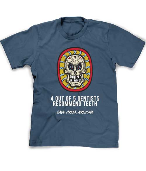 Funny Arizona Skull tee shirt