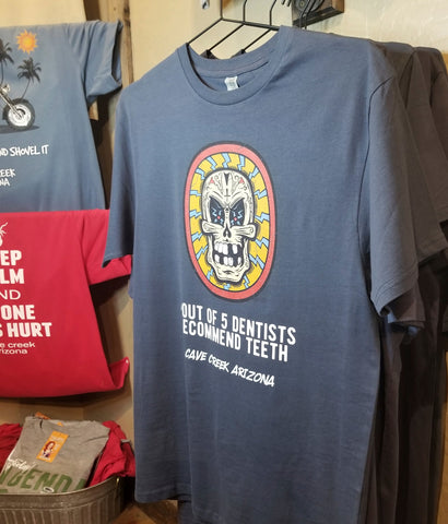Arizona souvenit t shirt on display in Teeslanger gift shop