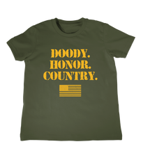 Infant military tee shirt doody honor country