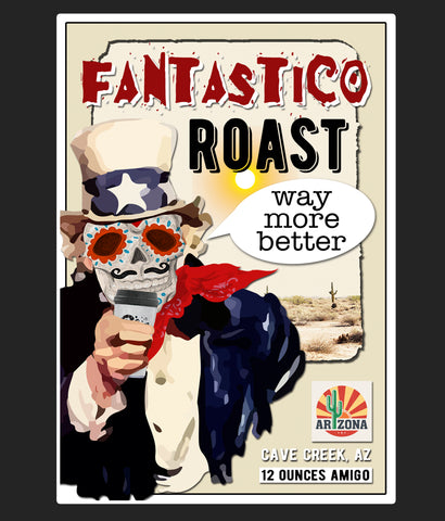 Fantastico roast whole bean coffee bag