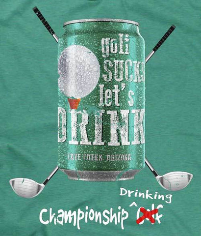 Arizona Golfing T-shirt design closeup