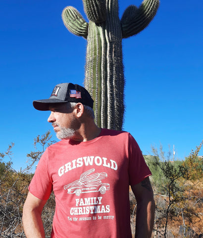 arizona griswold christmas tee shirt on model