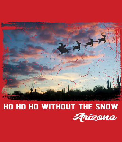 Funny Arizona Christmas t-shirt design closeup