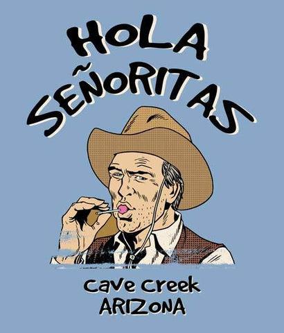 Arizona Cowboy tee shirt design closeup